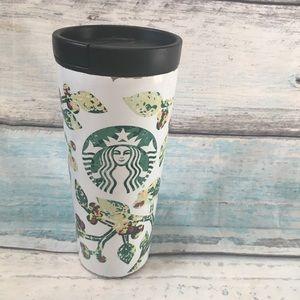 Starbucks Leaf Print Stainless Tumbler Travel Mug